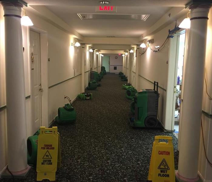Commercial water damage at a senior home